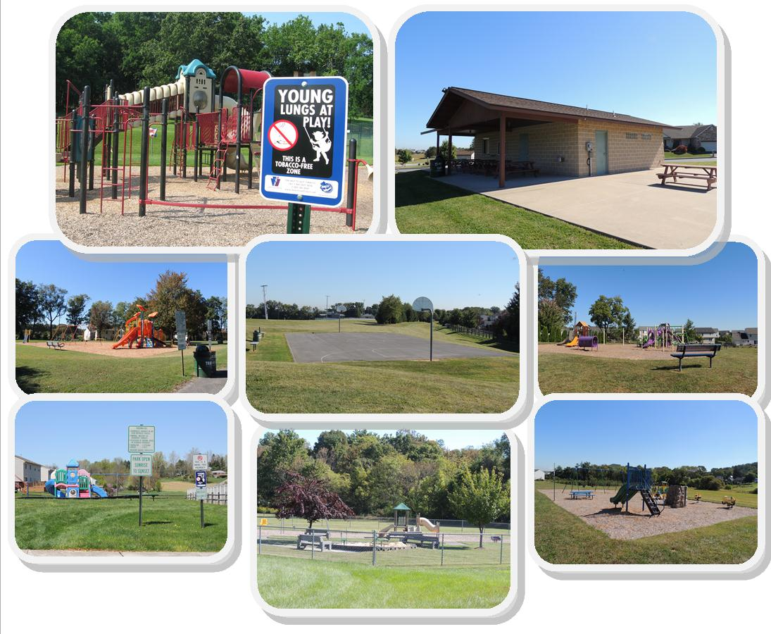 Various Playgrounds in South Heidelberg Township