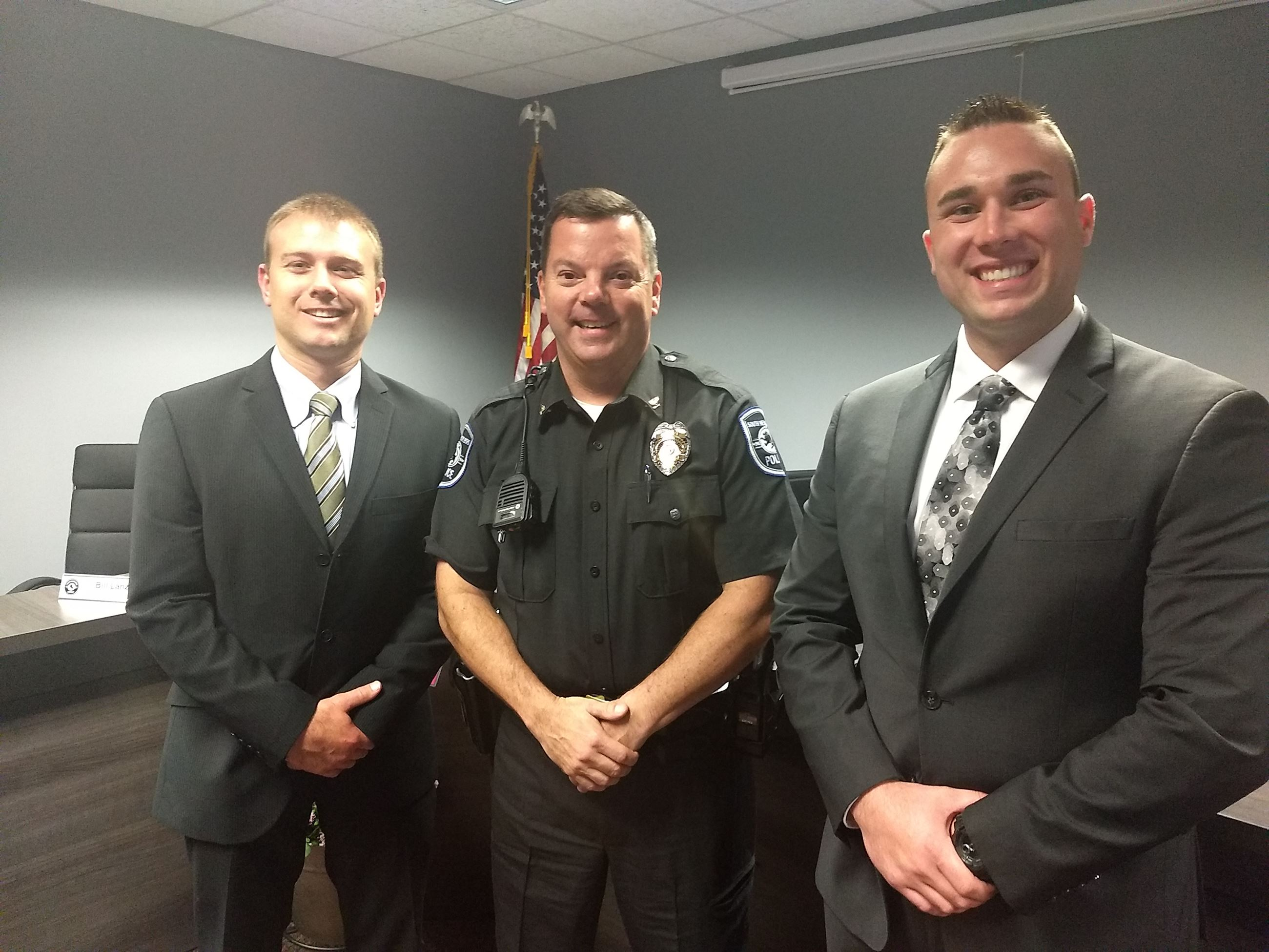 Chief Grim with SHPD New Hires